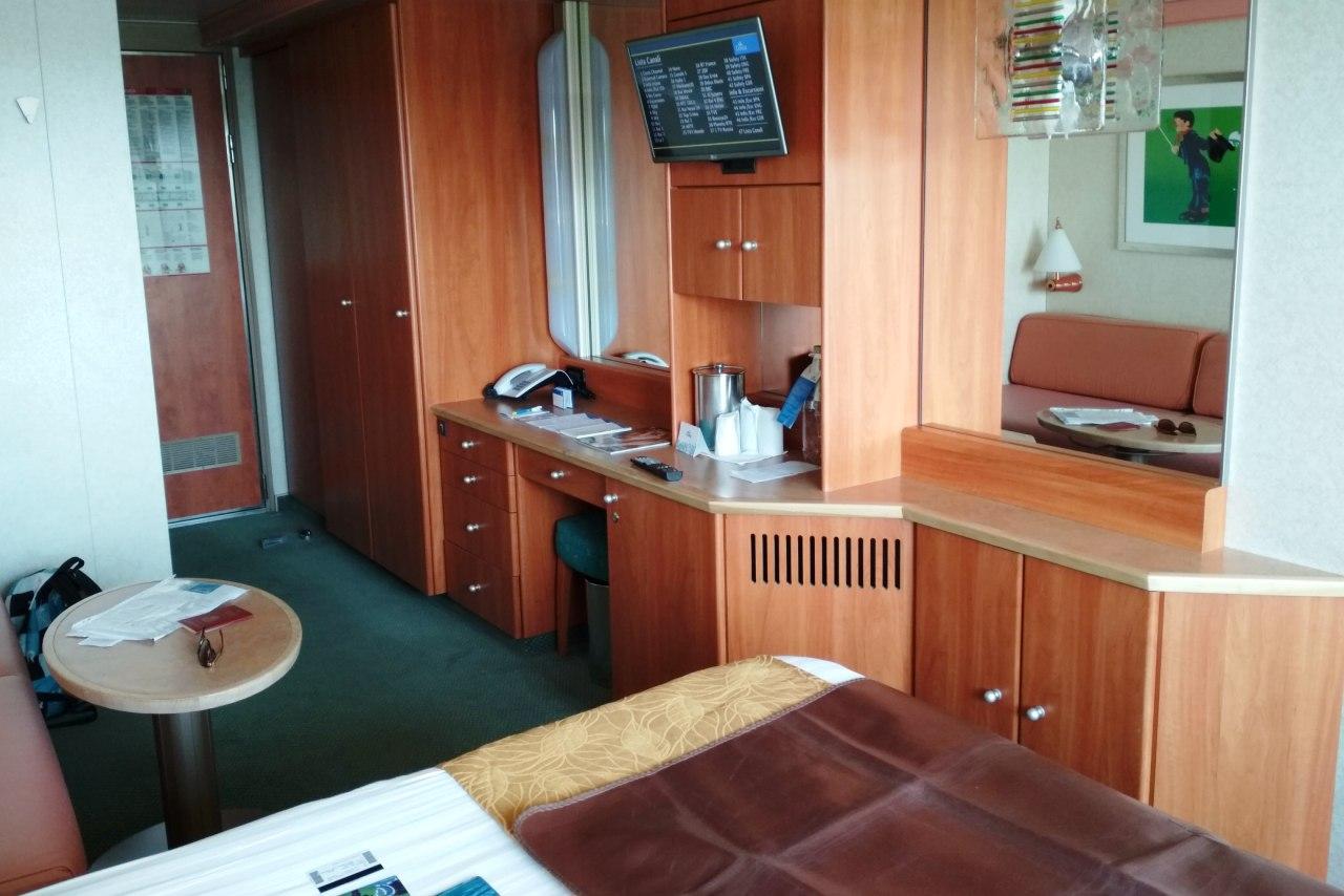 NAPAROME.RU / Морской лайнер Costa Magica в мае 2018  /  Каюта с балконом на круизном лайнере Costa Magica