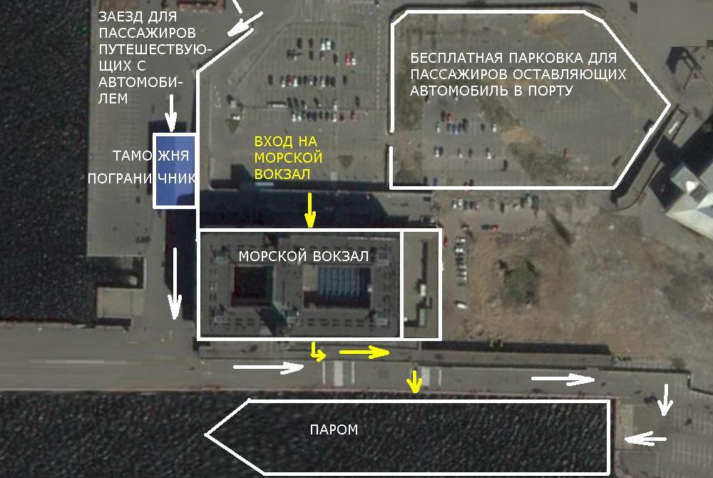 План Морского вокзала.