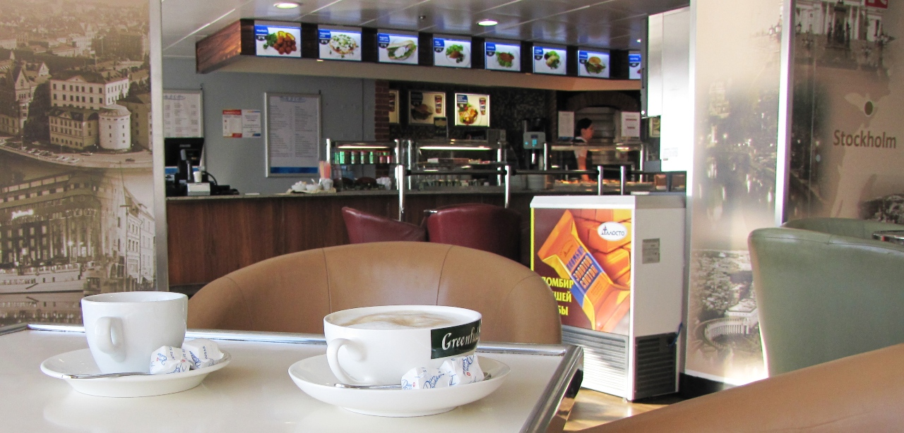 NAPAROME.RU: Паром Принцесса Анастасия МОБИ СПЛ / Princess Anastasia MOBY SPL     Кафе Bake and Coffee