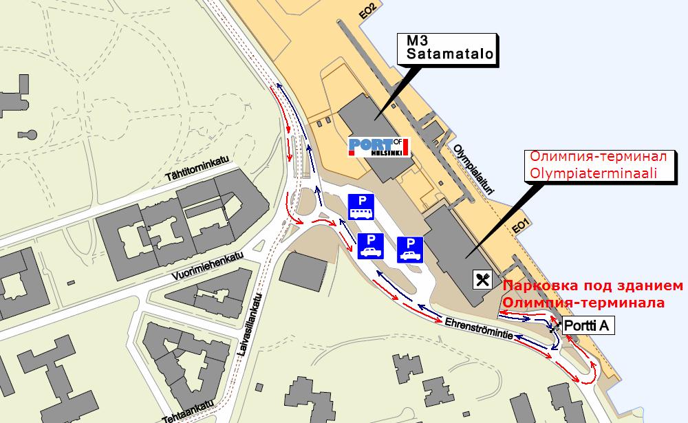 naparome.ru / Парковка в Хельсинки на терминале Олимпия