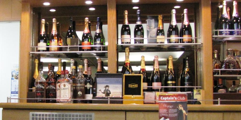 NAPAROME.RU / Шампань-бар на пароме Принцесса Анастасия. Паром Princess Anastasia паромная компания St. Peter Line