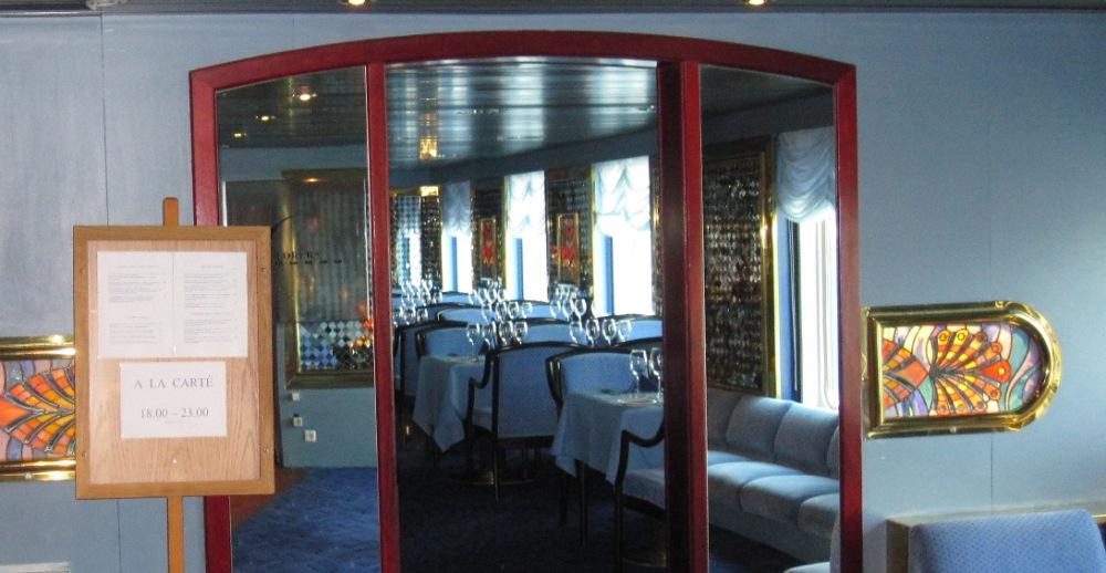 Ресторан Explorer's на пароме Princess Maria.