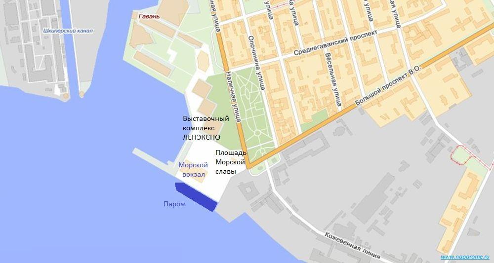 Морской вокзал, Санкт-Петербург. Пл. Морской славы, д. 1. План.