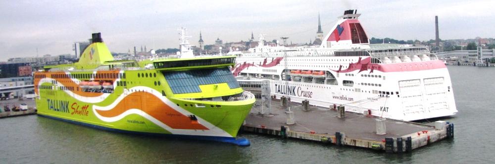 NAPAROME.RU / Паромы Таллинк Суперстар и Принцесса Балтики в порту Таллинна