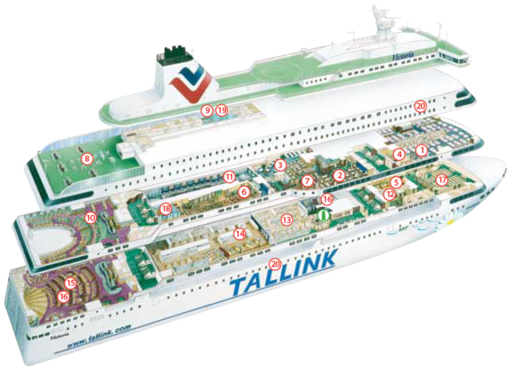RU / Паром Tallink Victoria I