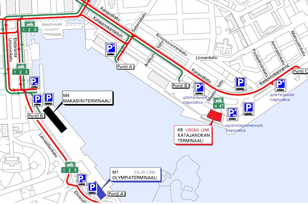 Хельсинки. Паромы Viking Line.
