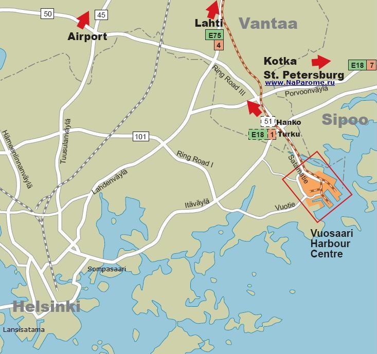 Порт Вуосаари / Vuosaari Harbour Centre : Finnlines, Tallink Silja Line. Tallink Superfast