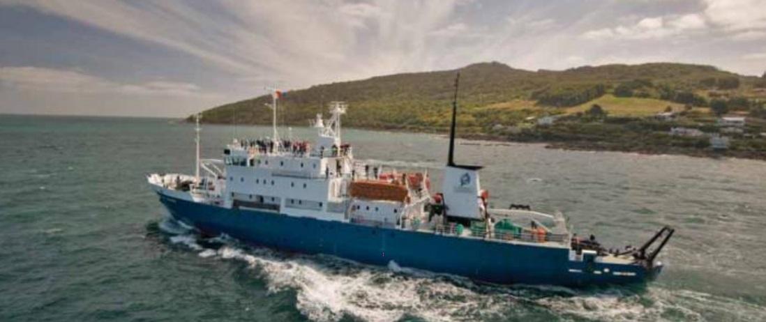 «Spirit of Enderby» - судно ледового класса, специально оборудованное для исследования регионов, в которых навигация кораблей большего размера невозможна. Технические характеристики Год постройки: 1984 Длина: 71,6 м Ширина: 12,8 м Скорость: 12 узлов Пассажиров/кают: 50/28 Флаг судна: Россия