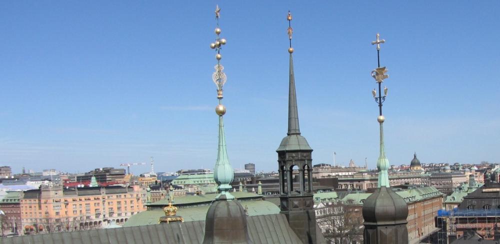 Прогулки по крышам Стокгольма.www.naparome.ru