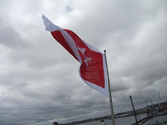флаг Мальты на корме парома Принцесса Мария