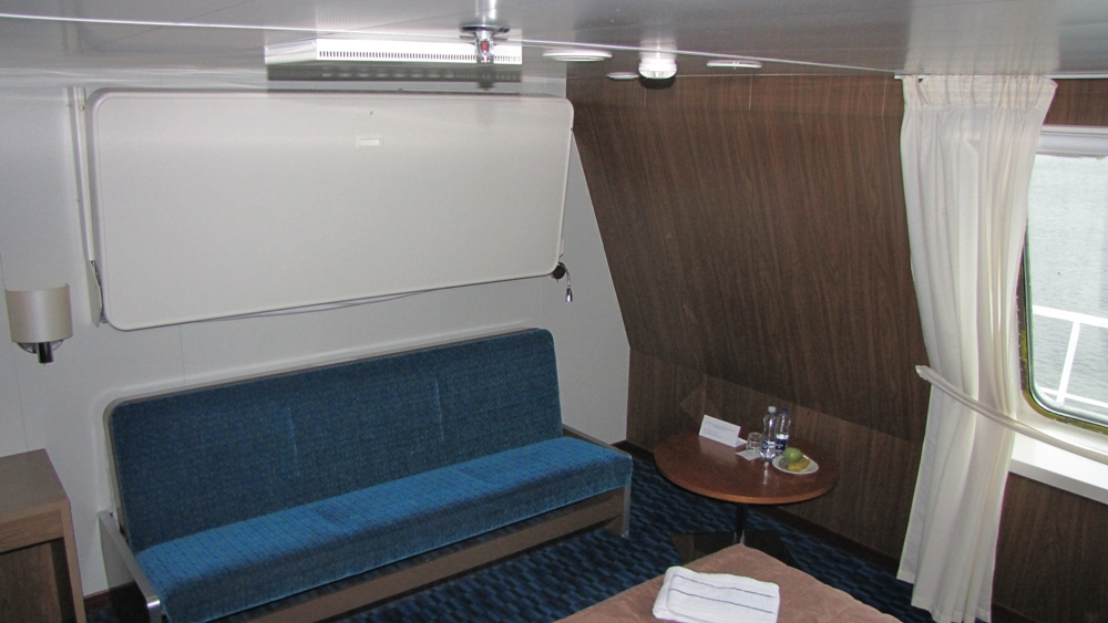 Каюта А4. Четырехместная с окном. Площадь 16 кв. метров. Паром Finnstar, паромная компания Finnlines.