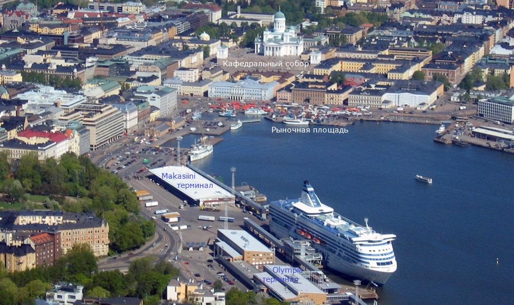 NAPAROME.RU / Южный порт Хельсинки. Терминалы Makasiin (St. Peter Line) и i Olympia (Silja Line)
