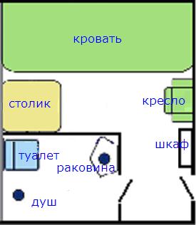 NAPAROME.RU / Паром Принцесса Анастасия. Каюта B2V. Схема    Паром Принцесса Анастасия. Каюта B2V. Каюта без окна на 2 персоны с кондиционером, душем, умывальником и туалетом. Кровати расположены одна над другой.