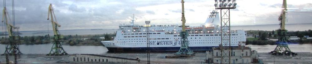 NAPAROME.RU / Паром Принцесса Анастасия при проходе через Межевой канал в Санкт-Петербурге