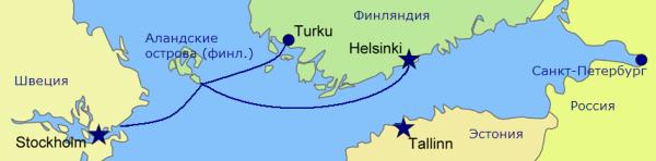 NAPAROME.RU / Маршруты паромной компании Silja Line: Хельсинки-Стокгольм; Турку-Стокгольм