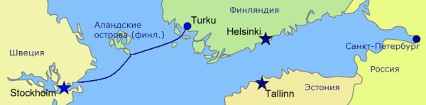 Линия Турку-Стокгольм. Паромны Silja Line