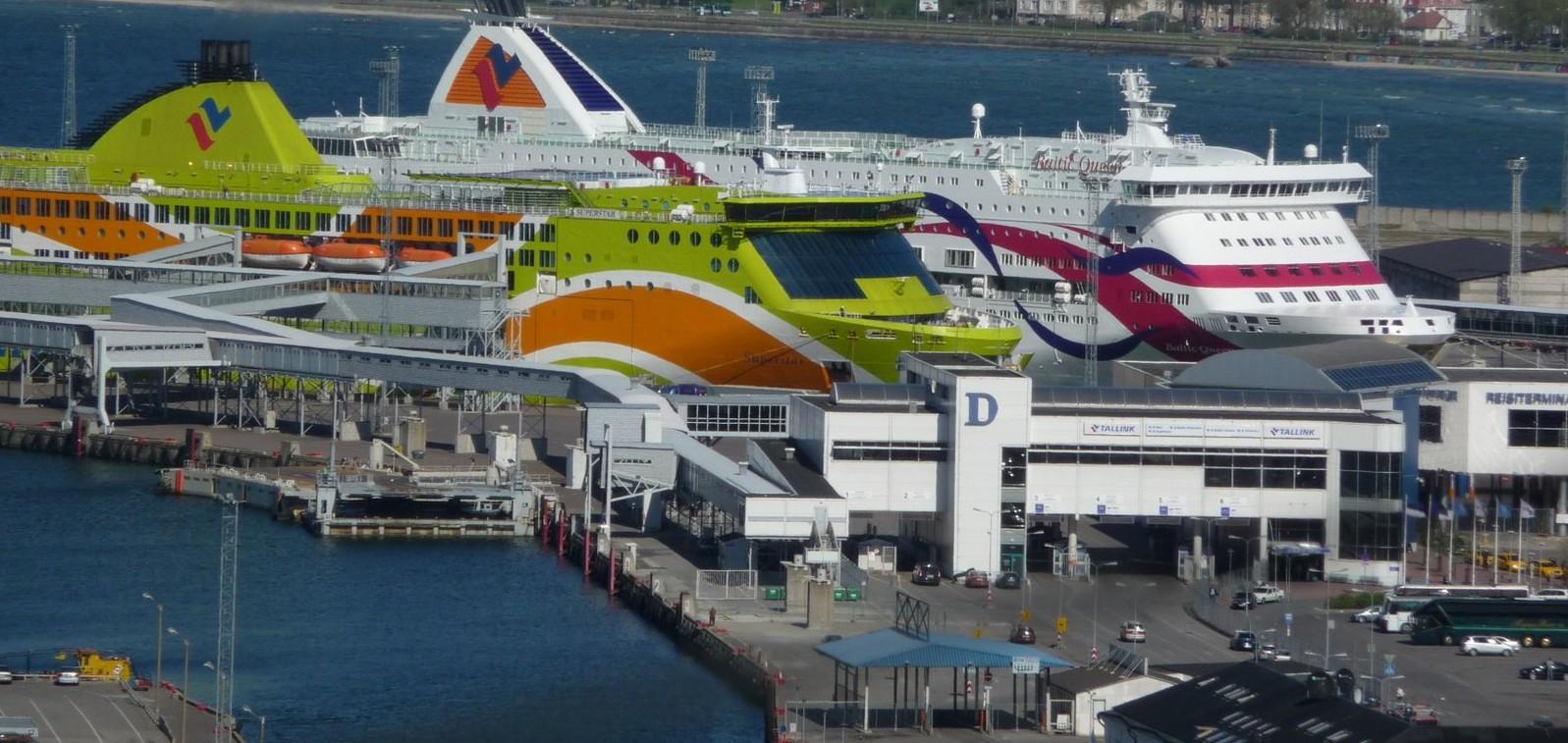 Terminal D, Tallinn. Паромы Tallink Superstar и  Baltic Queen на Терминале D.